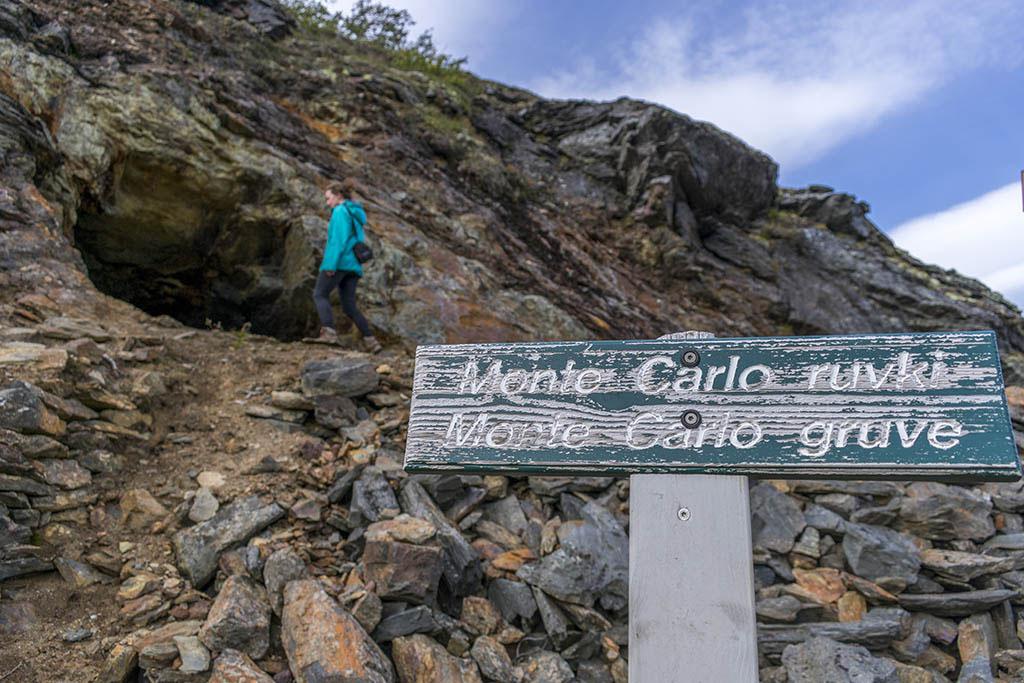 Ankerlia: cartello della miniera Monte Carlo