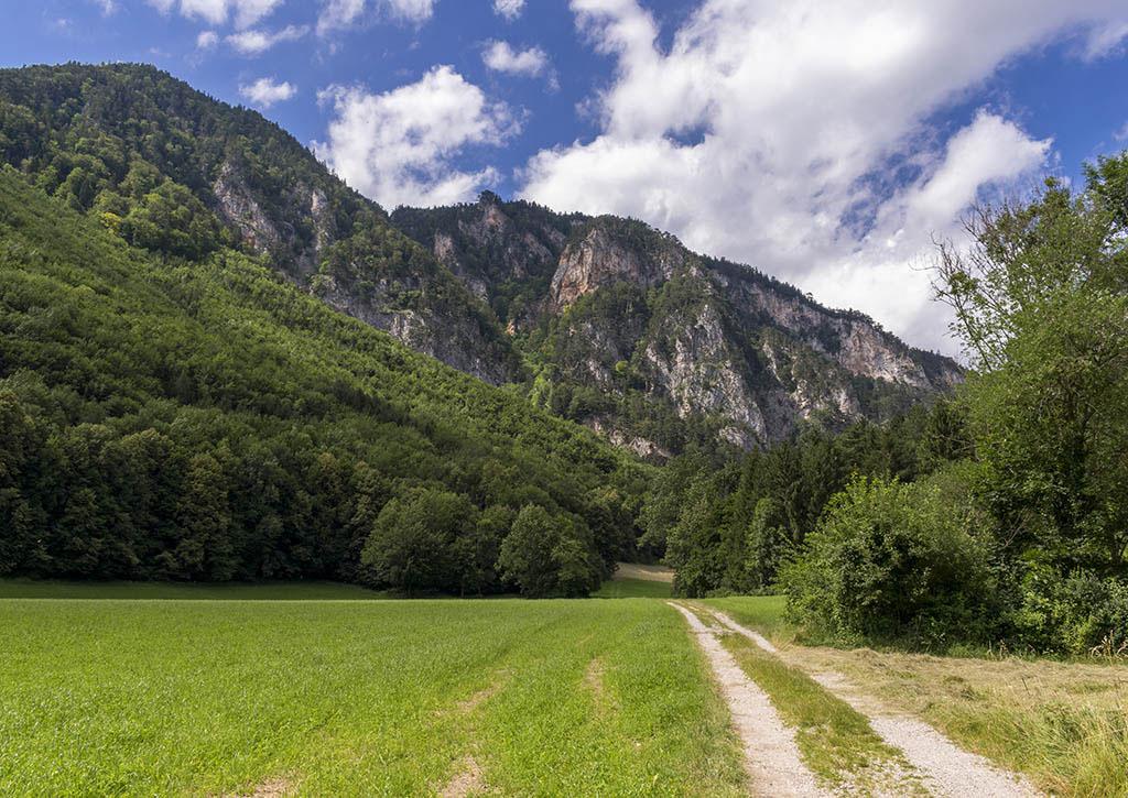 Austria: prati e monti nella valle dello Schwarza