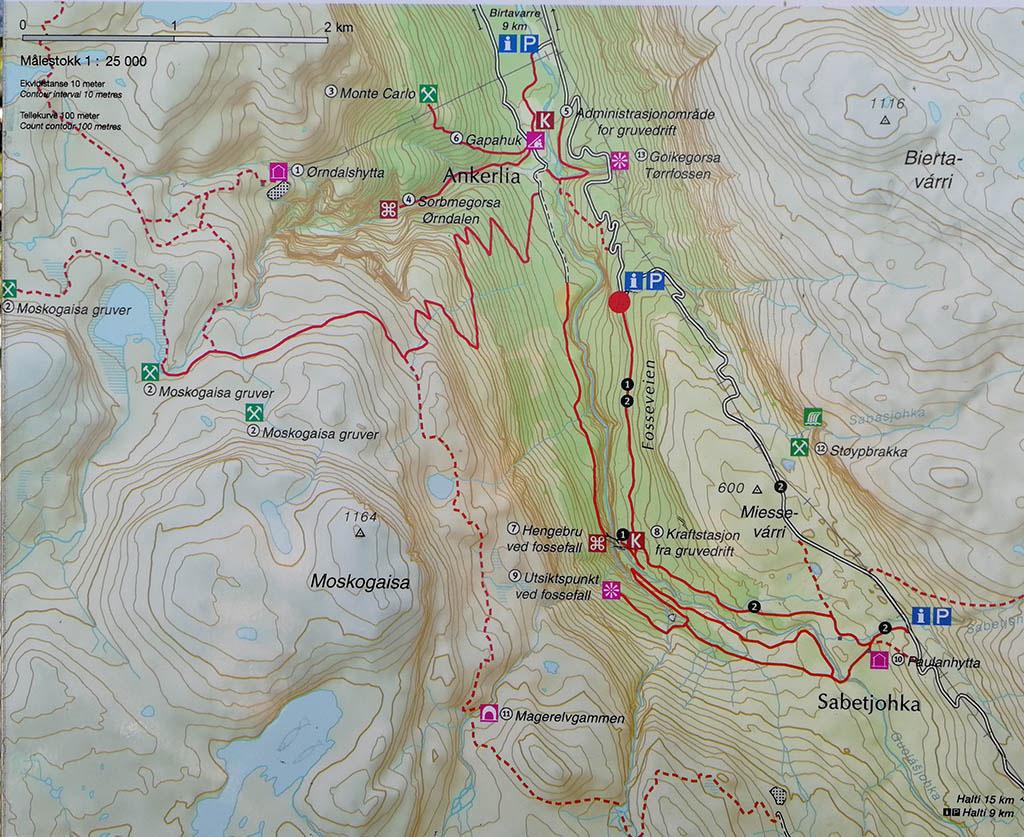 Mappa Ankerlia e Gorsa Bridge