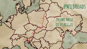 Mappa stilizzata del percorso del primo mese di WildRoads