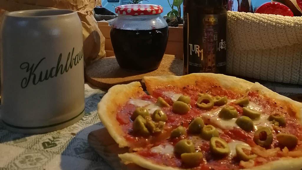 pizza senza forno in van