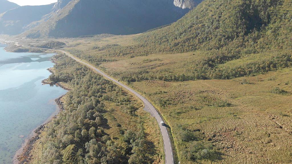 van renault trafic guida strada norvegia