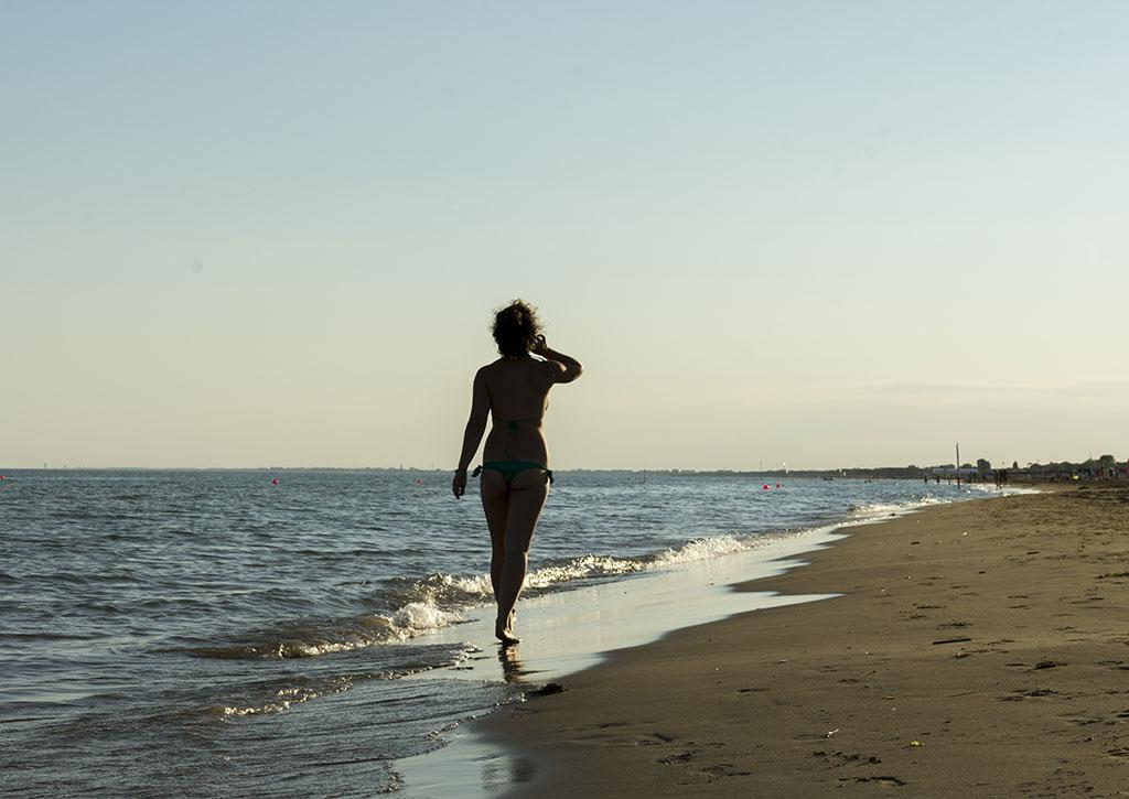 Chiara in spiaggia a Bibione
